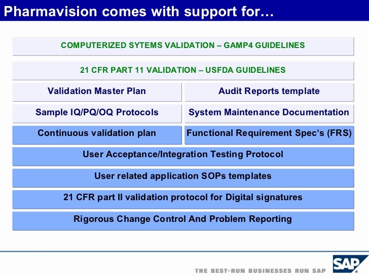 Validation Master Plan Template New Sap In Pharmaceutical Industry