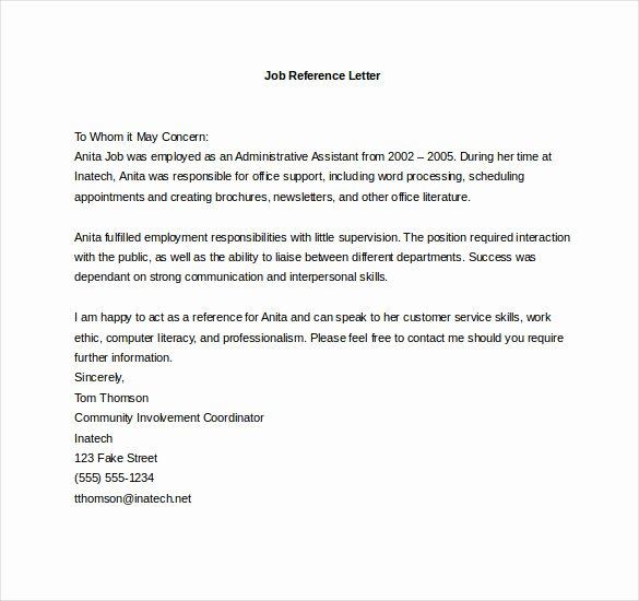 Vendor Recommendation Letter Sample Luxury 19 Reference Letter Templates Doc Pdf