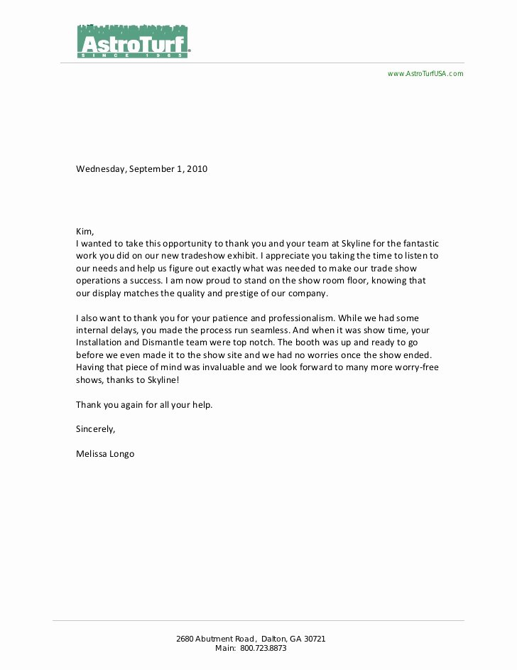 client letters of re mendation