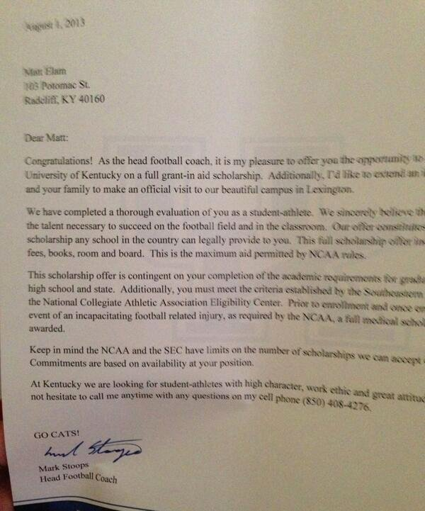 Virginia Tech Letter Of Recommendation Best Of What College Football Scholarship Letters Look Like the