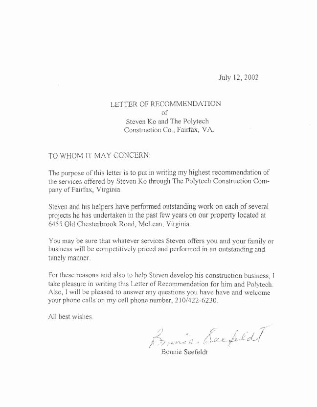 Virginia Tech Letter Of Recommendation Elegant Letters2