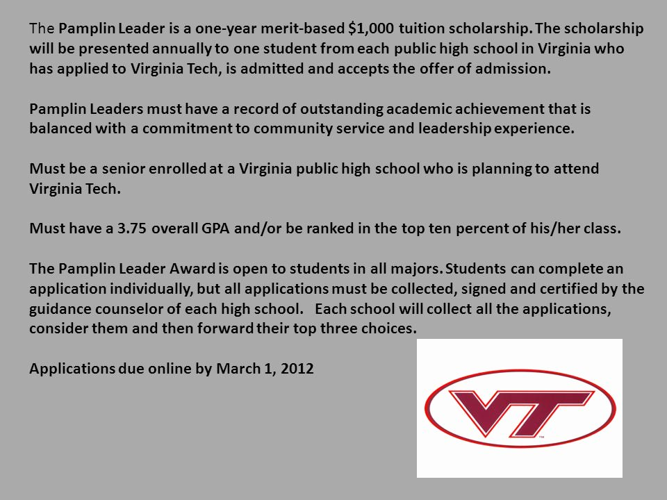 Virginia Tech Letter Of Recommendation Luxury Scholarship Applications are Available On the Loudoun