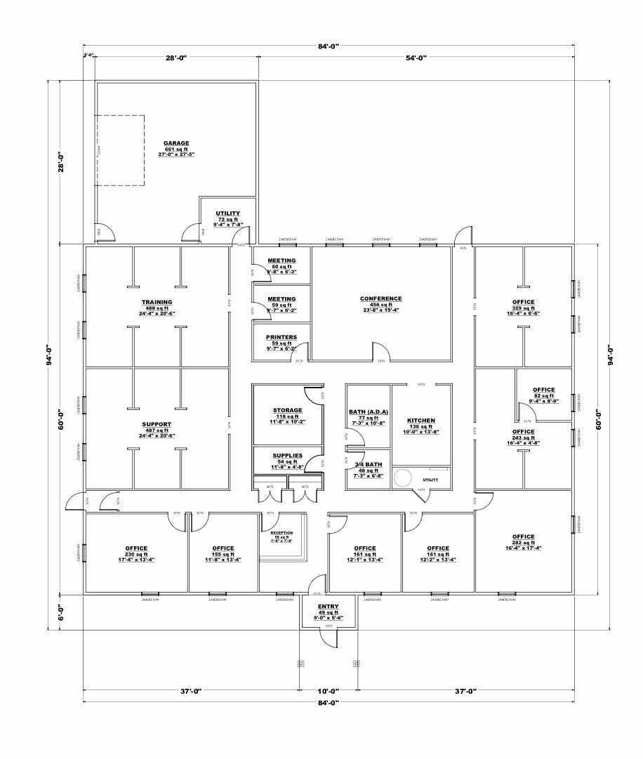 Visio Floor Plan Template Beautiful 4 Best Small Fice Layout Visio Simple Simple