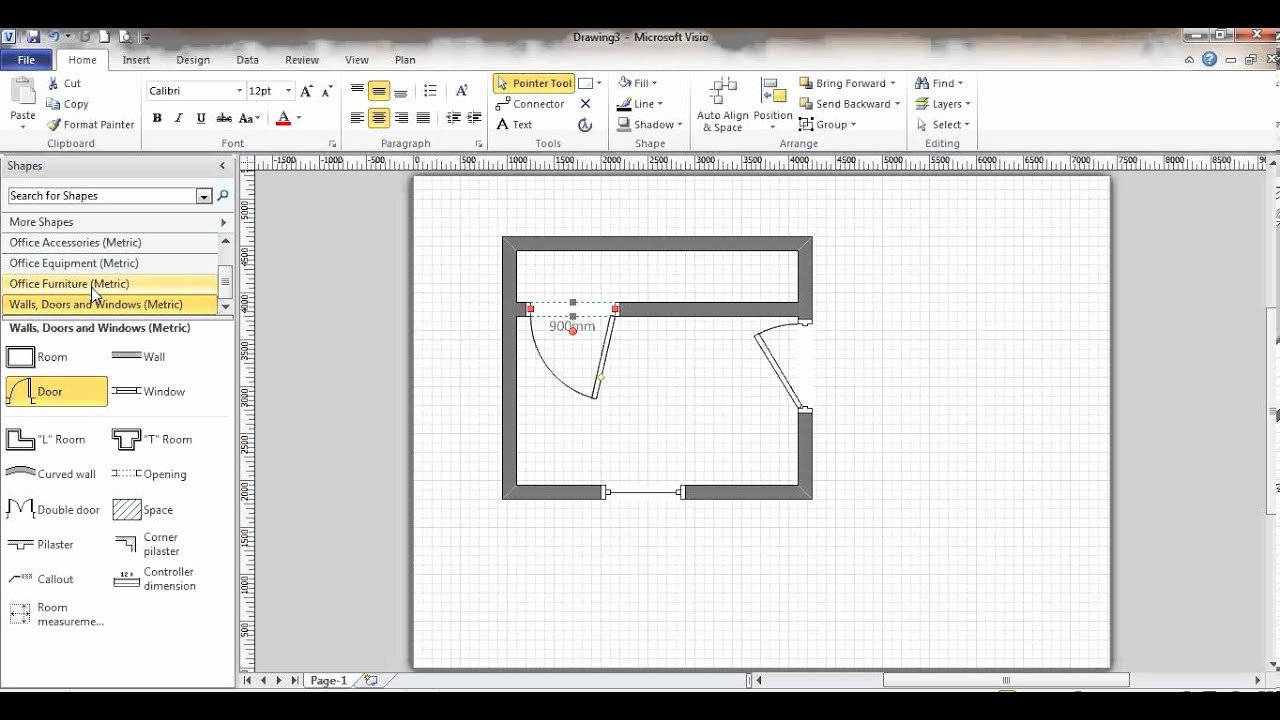 Visio Floor Plan Template Luxury Microsoft Visio Floor Plan