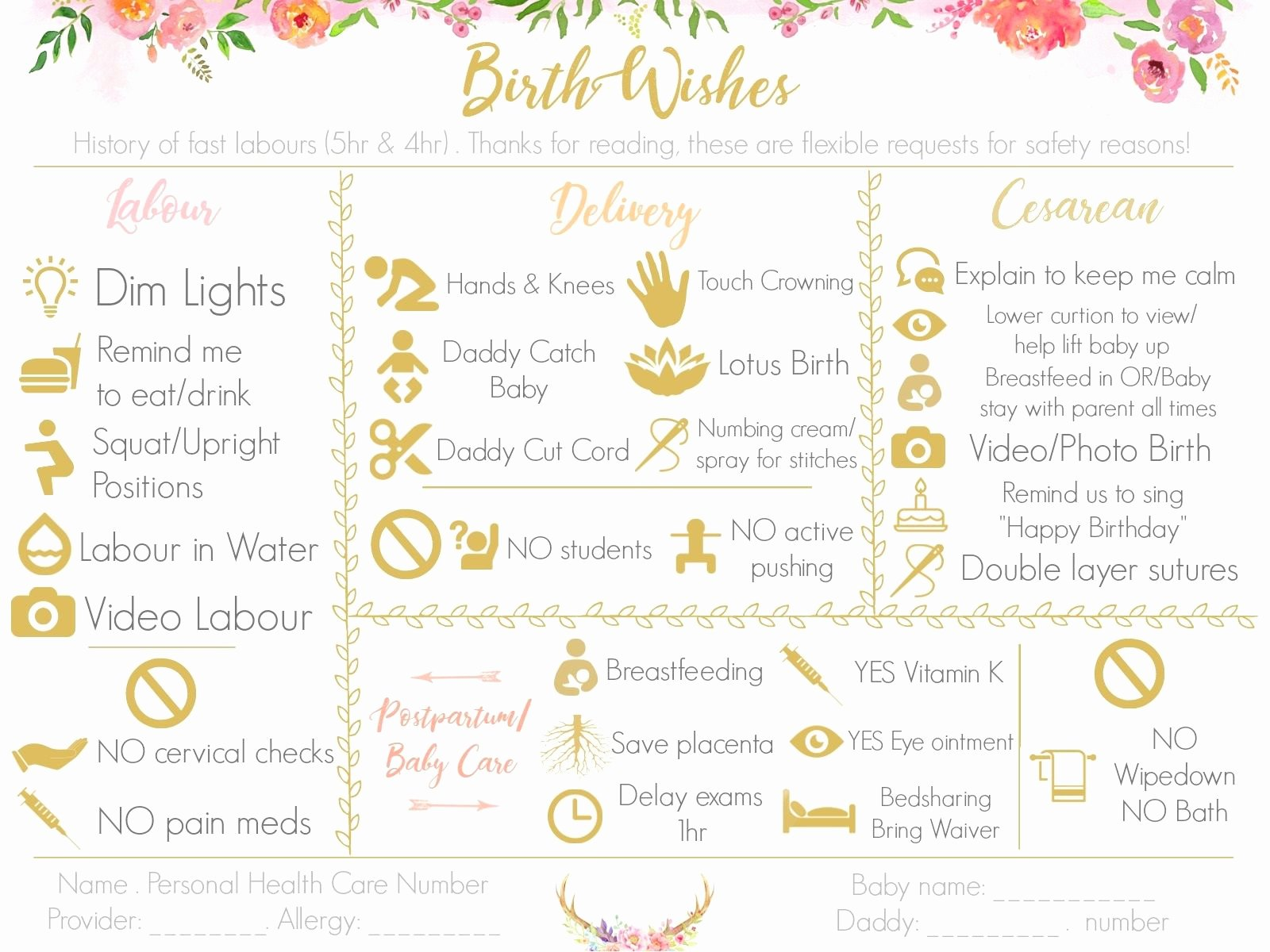 Visual Birth Plan Template Lovely Make A Visual Birth Plan Easy to Read and Fun to Look at