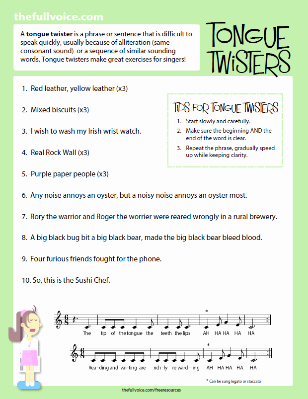 Vocal Lesson Plan Template Lovely Free Resources — the Full Voice