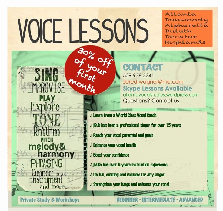Vocal Lesson Plan Template New Voice Lessons with atlanta S Vocal Studio