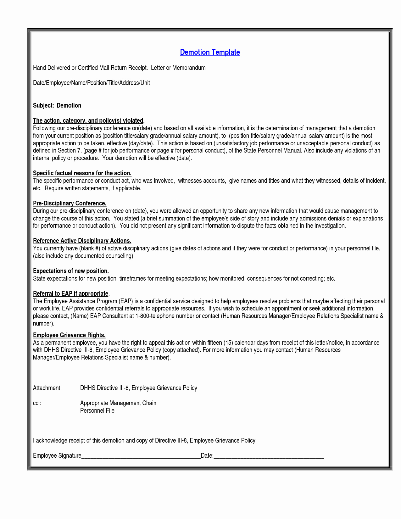 Voluntary Demotion Letter Sample Best Of Best S Of Notice Demotion Letter Sample Audit