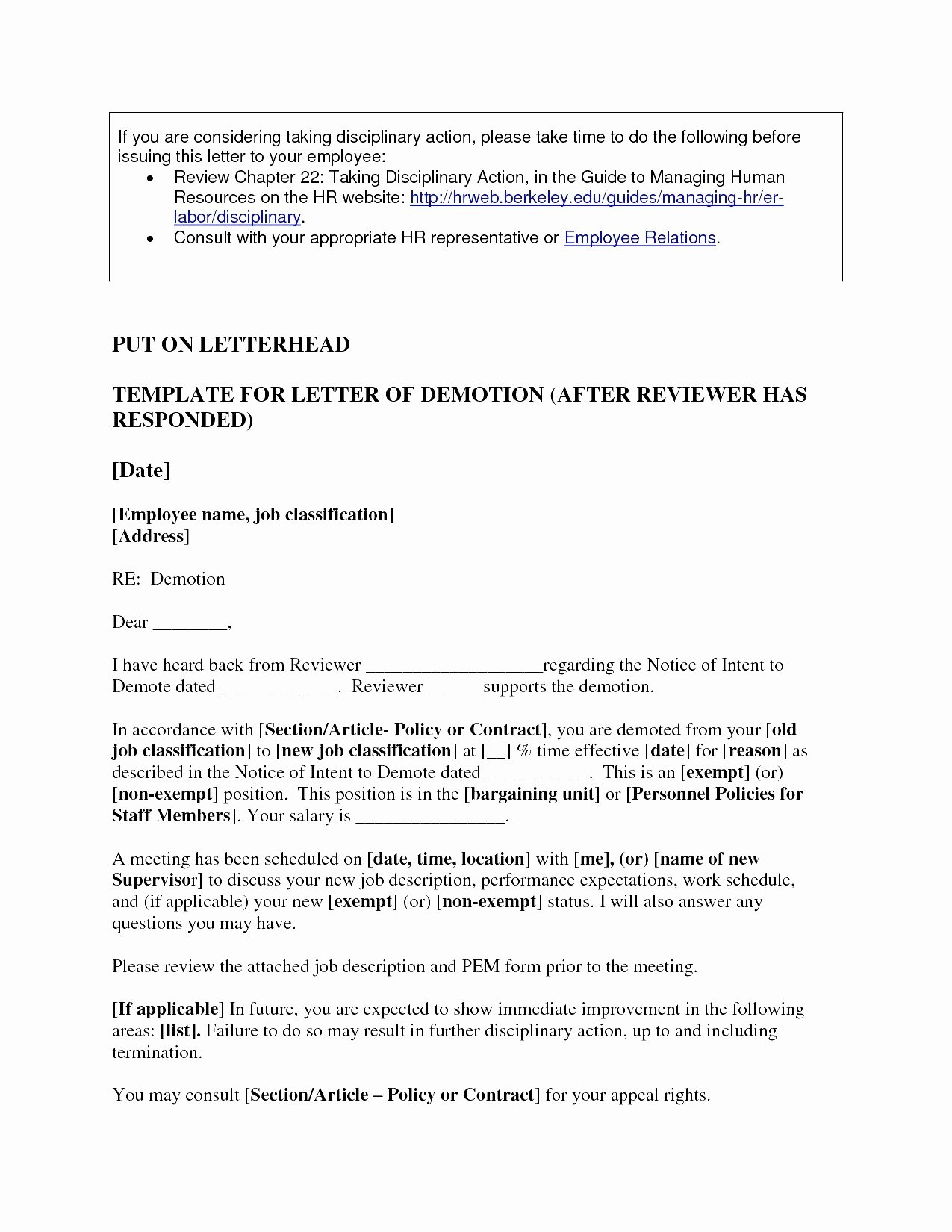 Voluntary Demotion Letter Sample Best Of Demotion Letter Sample Pdf