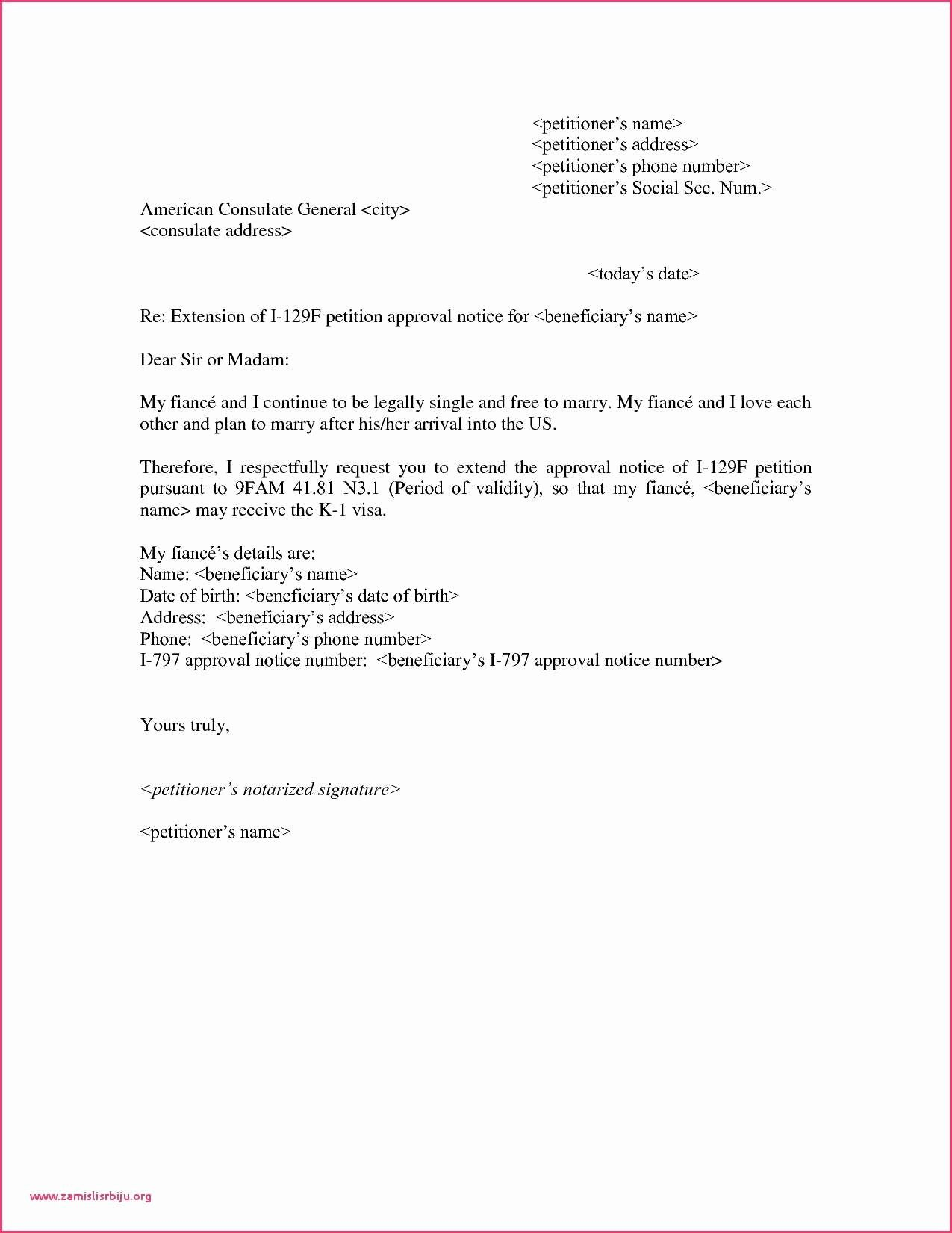 Voluntary Demotion Letter Sample Lovely I 129f Cover Letter Voluntary Demotion Letter Template