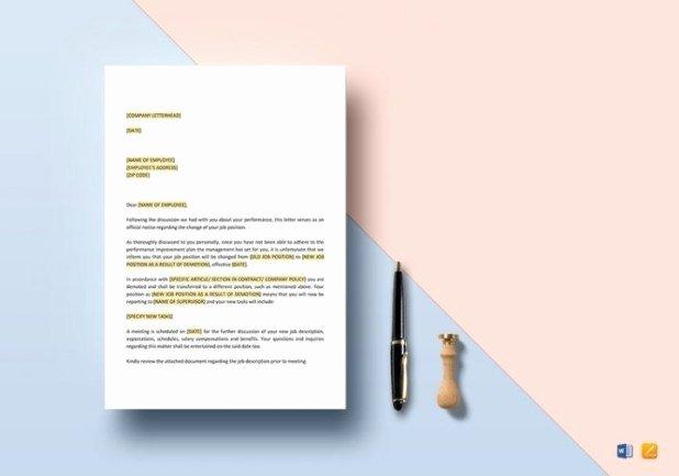 Voluntary Demotion Letter Sample Unique Sample Letter Voluntary Demotion Position
