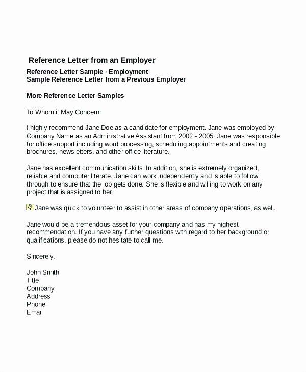 Volunteer Letter Of Recommendation Best Of Sample Re Mendation Letter for Volunteer Work