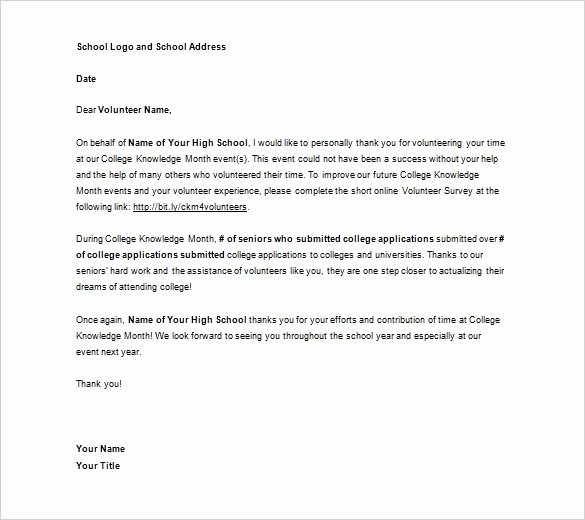 Volunteer Letter Of Recommendation Best Of Volunteer Reference Letter Template