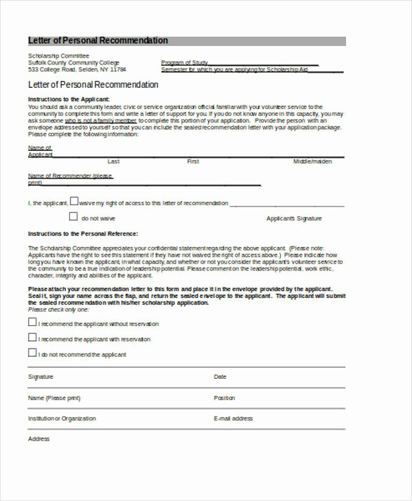 Volunteer Letter Of Recommendation Inspirational 89 Re Mendation Letter Examples & Samples Doc Pdf