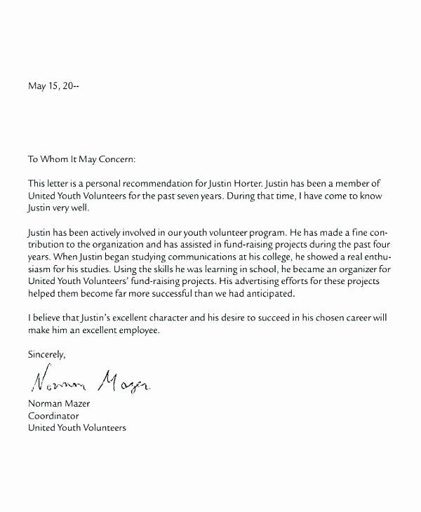 Volunteer Letter Of Recommendation Sample Awesome Volunteer Appreciation Letter Sample Hospital Volunteer