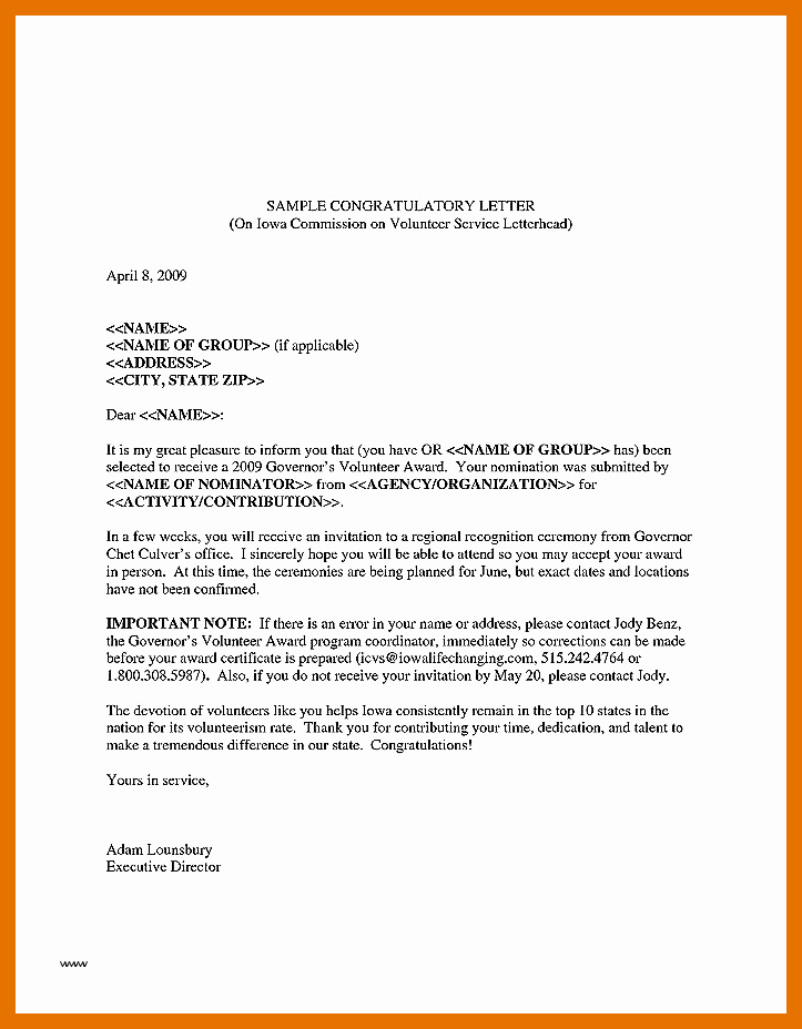 Volunteer Letter Of Recommendation Sample Best Of 9 10 Recognition Letter