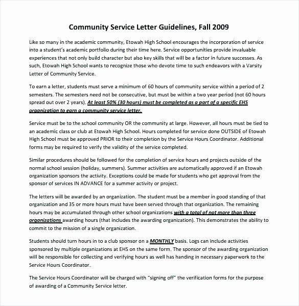 Volunteer Letter Of Recommendation Sample Unique Download by Munity Service Hours Verification Letter