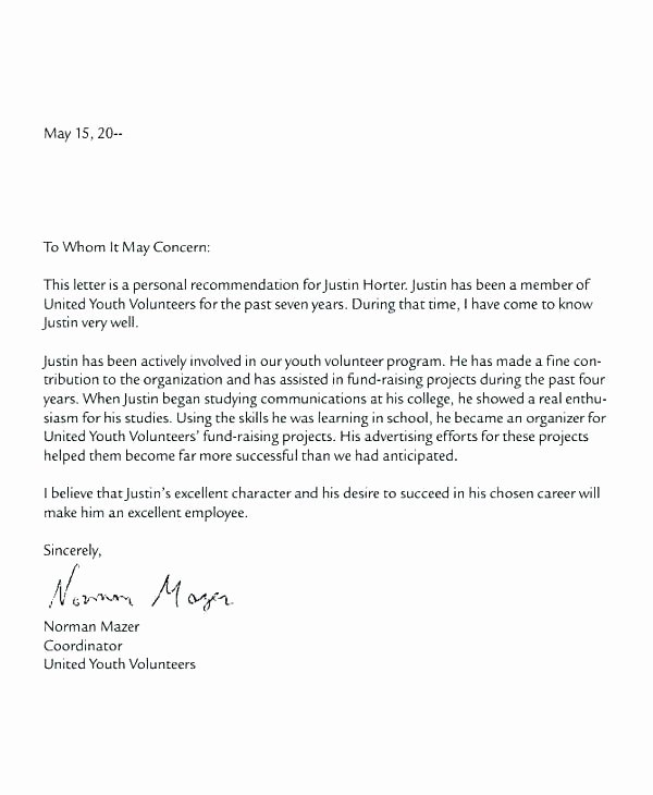 Volunteering Letter Of Recommendation Elegant Volunteer Appreciation Letter Sample Hospital Volunteer