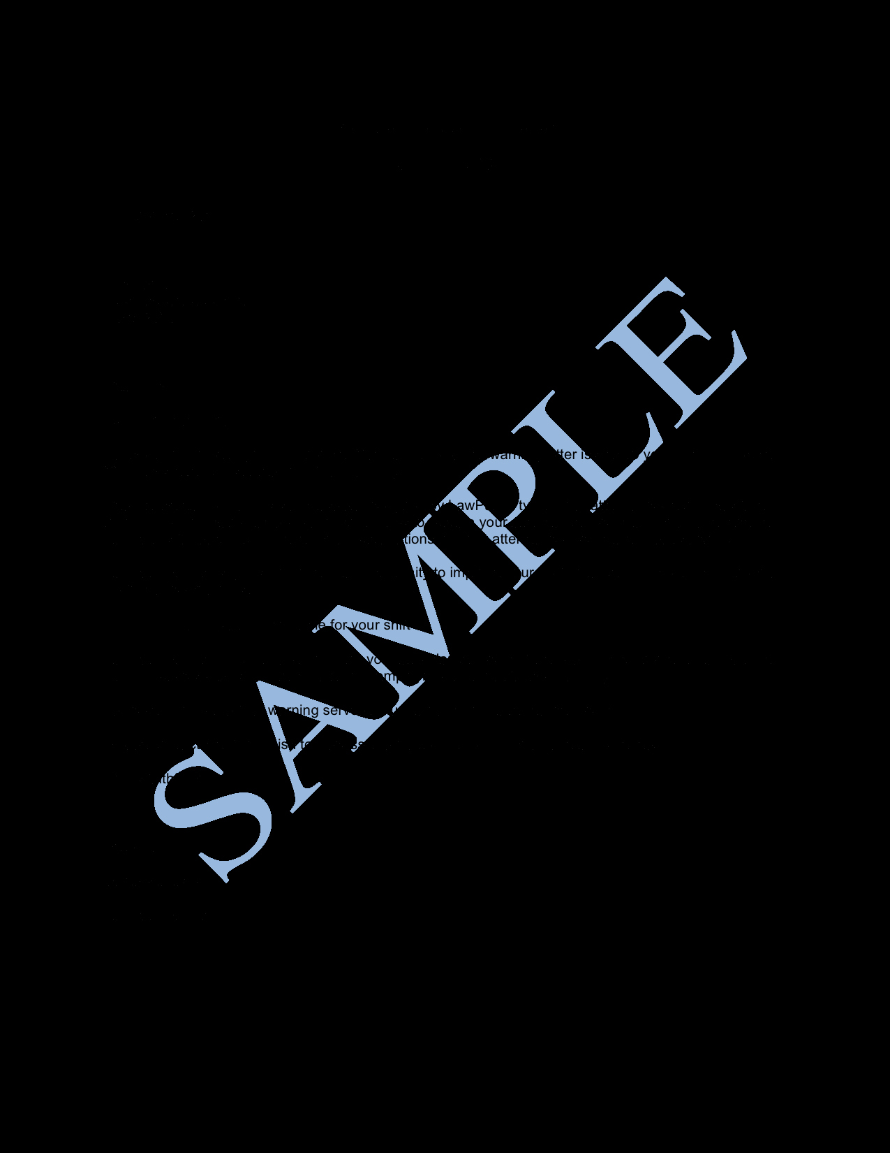 Warn Letter Samples Fresh Final Warning Letter Sample Lawpath