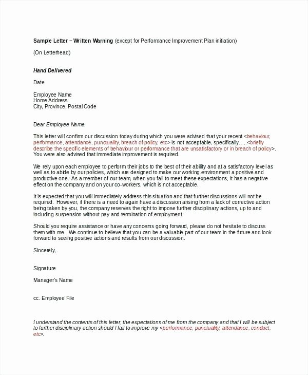 Warn Letter Samples New Sample Warning Letter to Employee for Rude Behaviour