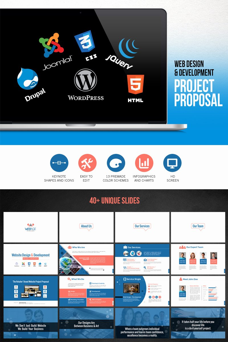 Website Development Project Plan Template Luxury Web Design & Development Project Proposal Powerpoint