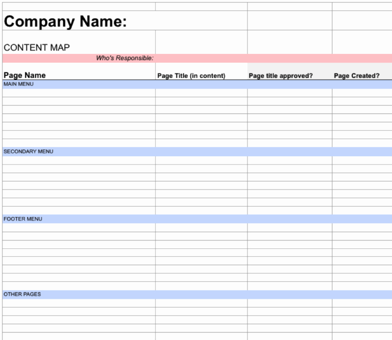 Website Project Plan Template Fresh A Simple Project Plan Template to Collaborate Web Content