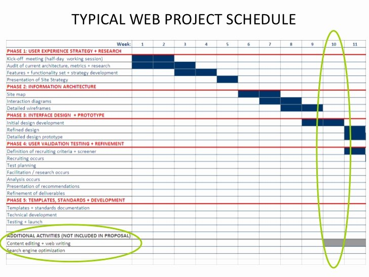 Website Redesign Project Plan Template Lovely Typical Web Project Schedule