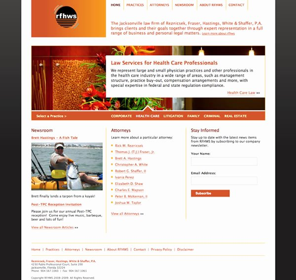Website Redesign Project Plan Template New Law Firm Website Redesign Reznicsek Fraser White & Shaffer