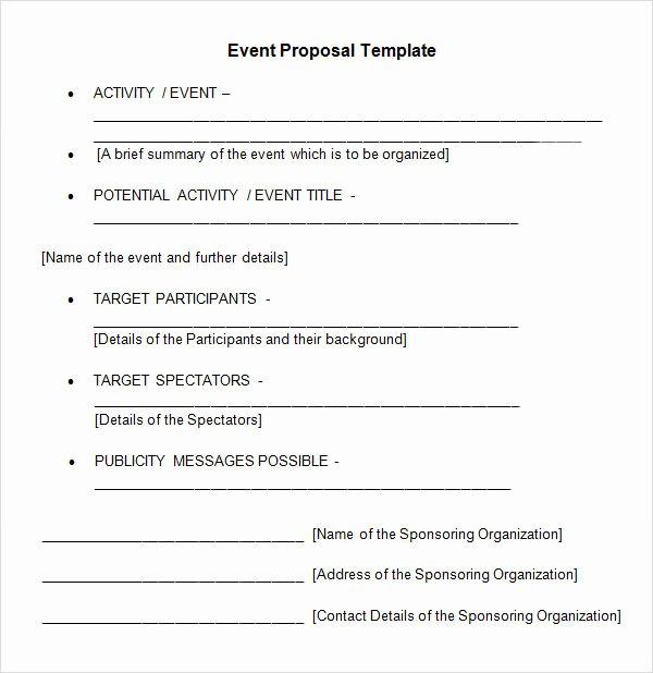 Wedding Venue Business Plan Template Fresh 30 Sample event Proposal Templates Psd Pdf Word