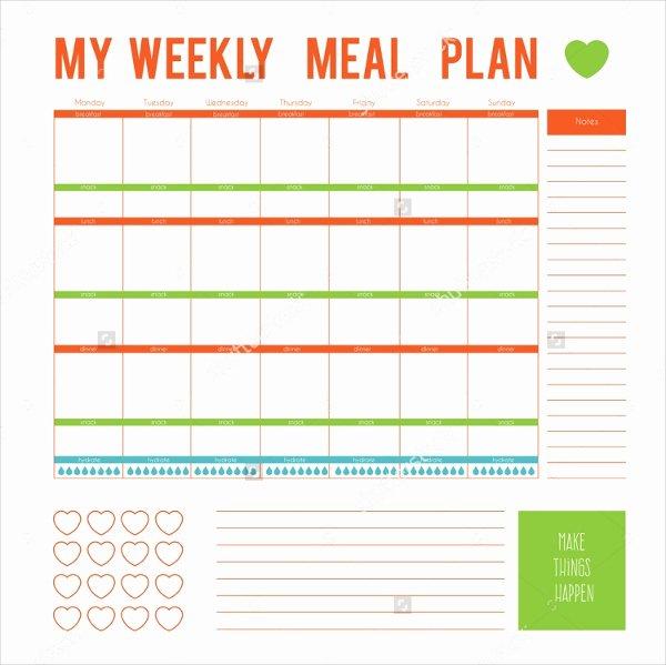 Weekly Food Plan Template Beautiful Meal Plan Template 22 Free Word Pdf Psd Vector