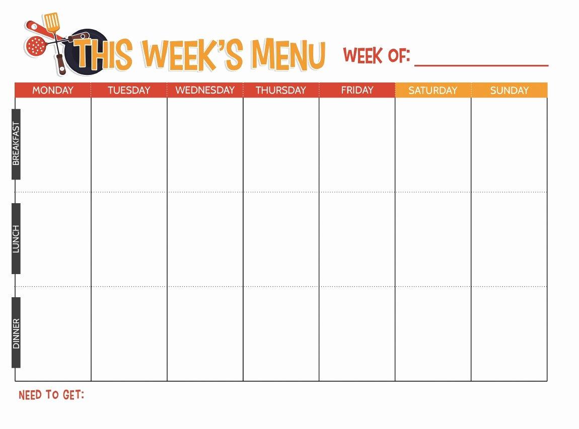 Weekly Food Plan Template Elegant Free Printable Weekly Meal Planner Not Quite Susie