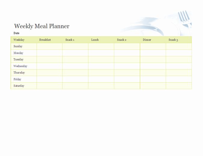Weekly Meal planner TM