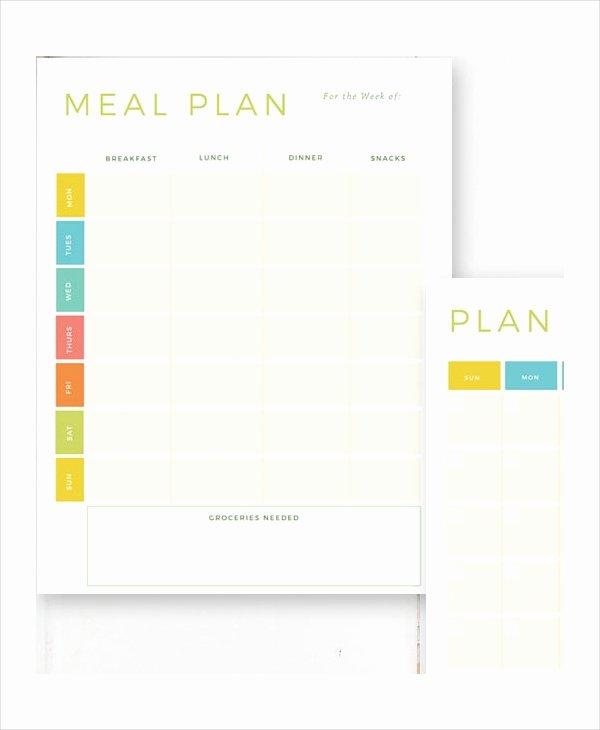 Weekly Food Plan Template Luxury Weekly Meal Planner 10 Free Pdf Psd Documents Download