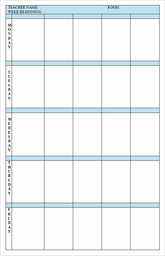 Weekly Lesson Plan Template Beautiful 8 Weekly Lesson Plan Samples