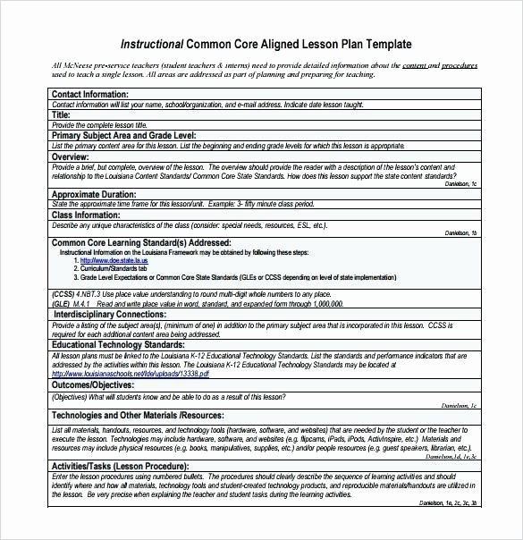 Weekly Lesson Plan Template Doc Luxury Unit Lesson Plan Template Doc – Daily Lesson Plan Template