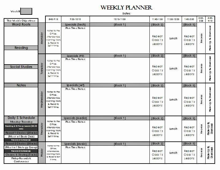 Weekly Lesson Plan Template Elementary Unique Check Out My Weekly Lesson Planning Page Templates for