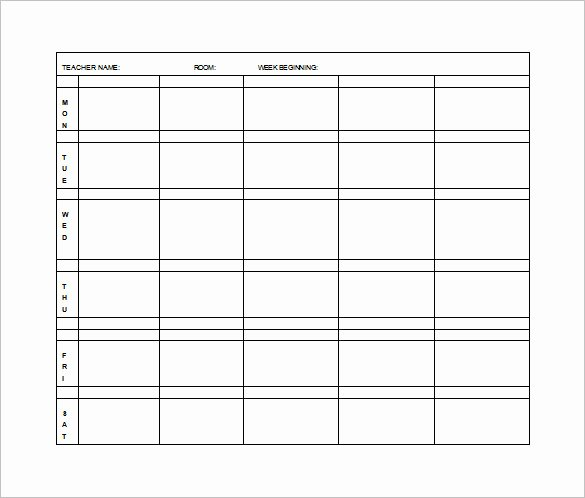 Weekly Lesson Plan Template Inspirational Elementary Lesson Plan Template 11 Free Word Excel