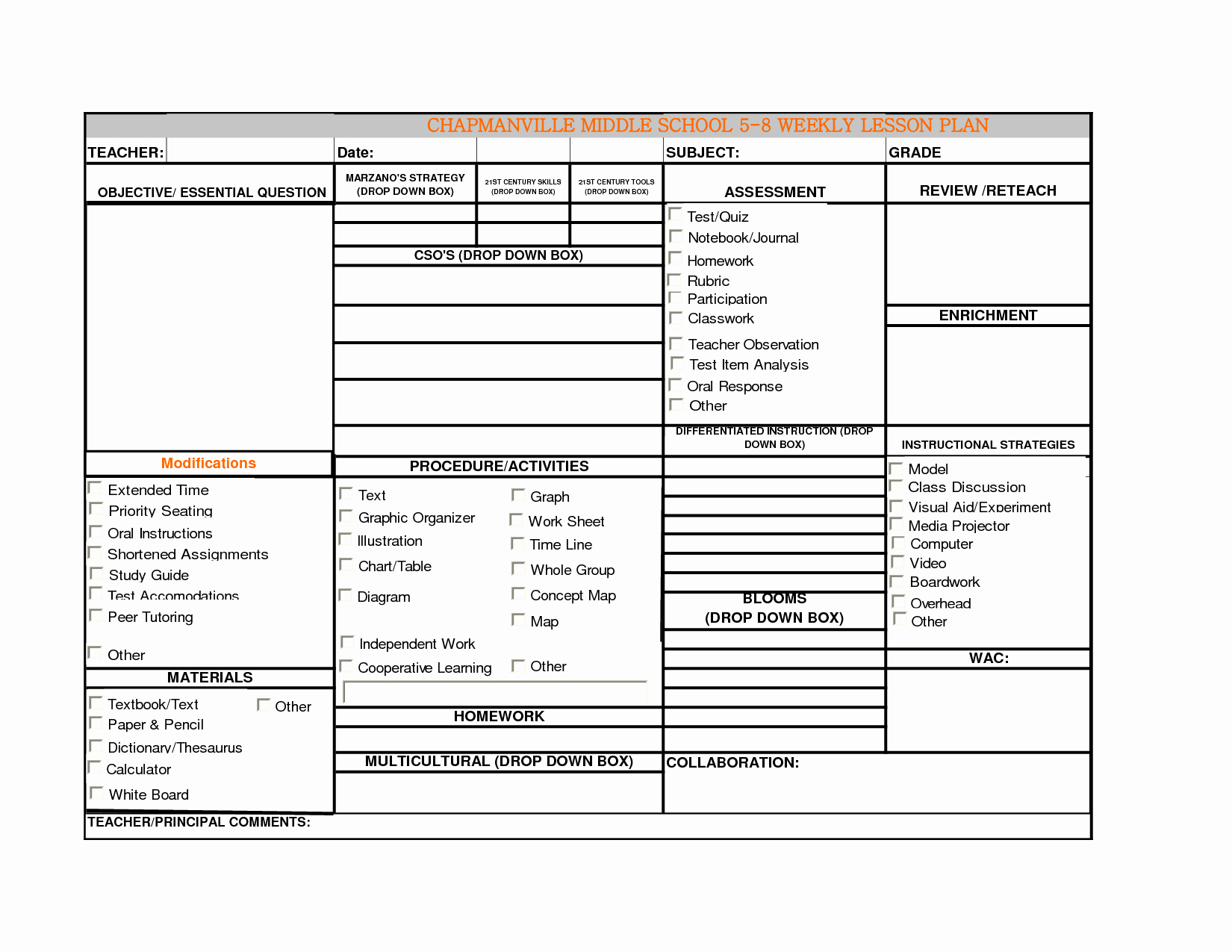 Weekly Lesson Plan Template Lovely High School Weekly Lesson Plan Template Word Mon Core
