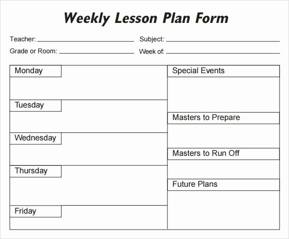 Weekly Lesson Plan Template Pdf Best Of Lesson Plan Template Pdf Weekly