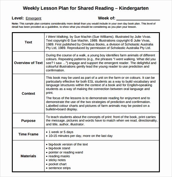 Weekly Lesson Plan Template Pdf Best Of Sample Guided Reading Lesson Plan 8 Documents In Pdf