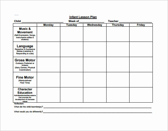 Weekly Lesson Plan Template Pdf Fresh Preschool Lesson Plan Template 11 Free Pdf Word format
