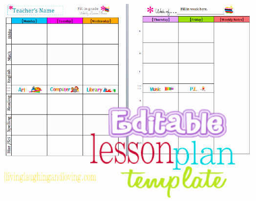 Weekly Lesson Plan Template Pdf Lovely Cute Lesson Plan Template… Free Editable Download