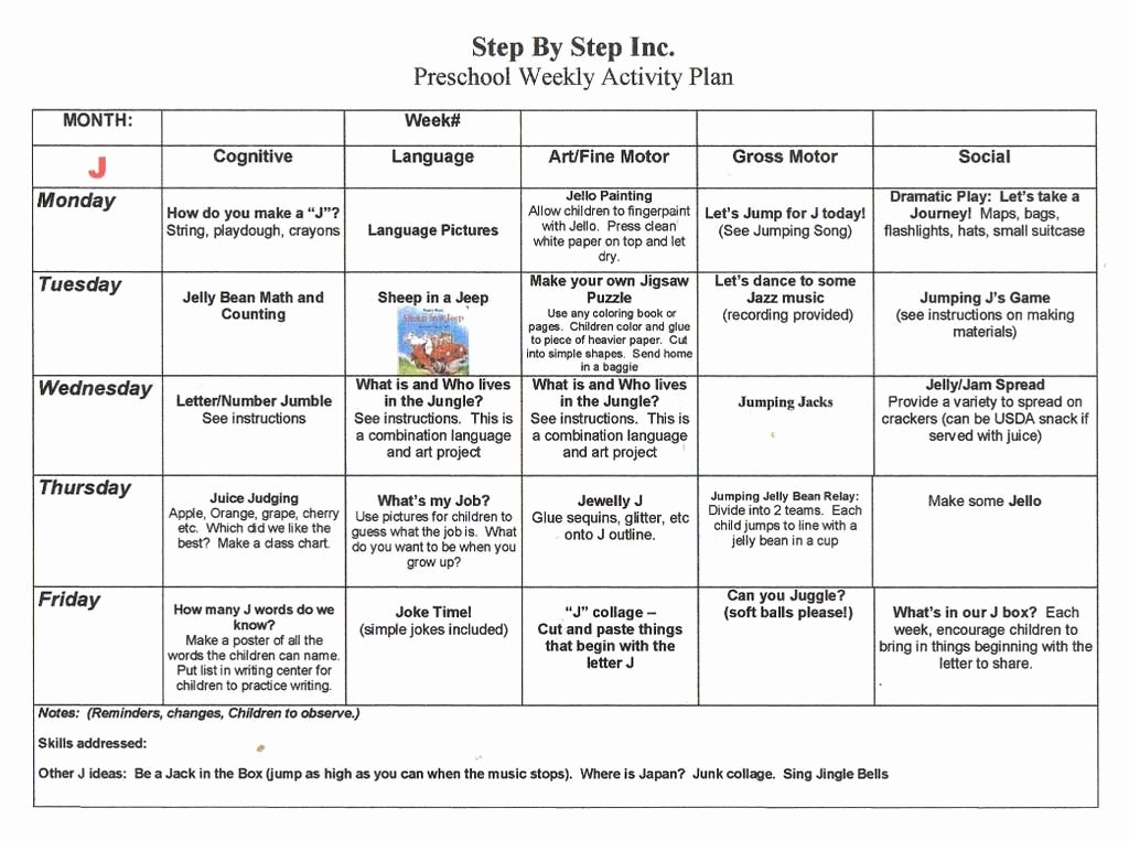Weekly Lesson Plan Template Pdf New Emergent Curriculum Preschool Lesson Plan Template