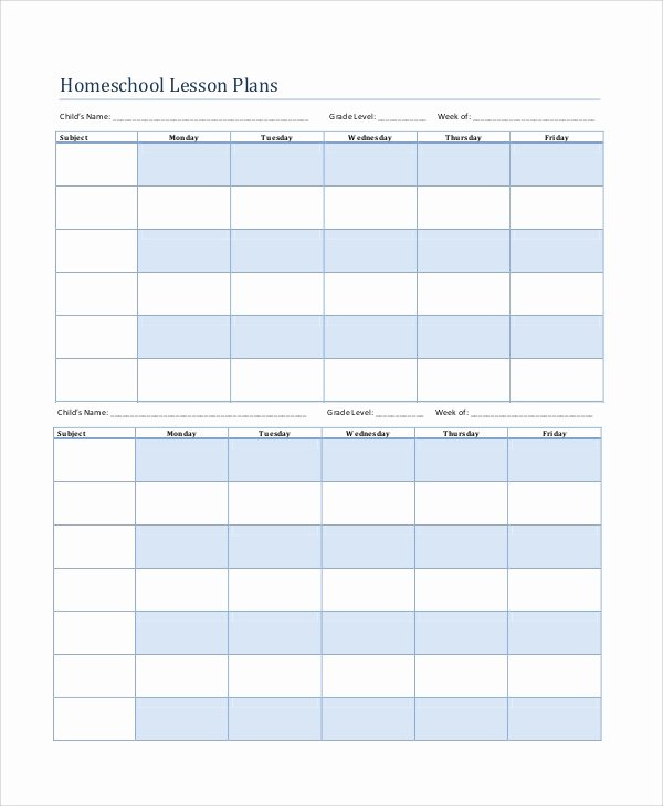 Weekly Lesson Plan Template Pdf Unique Printable Lesson Plan 7 Free Word Pdf Documents