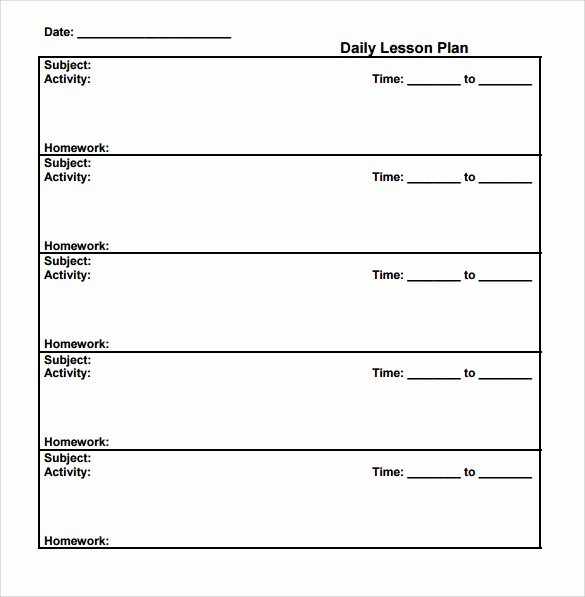 Weekly Lesson Plan Template Word Luxury Sample Lesson Plan 6 Documents In Pdf Word