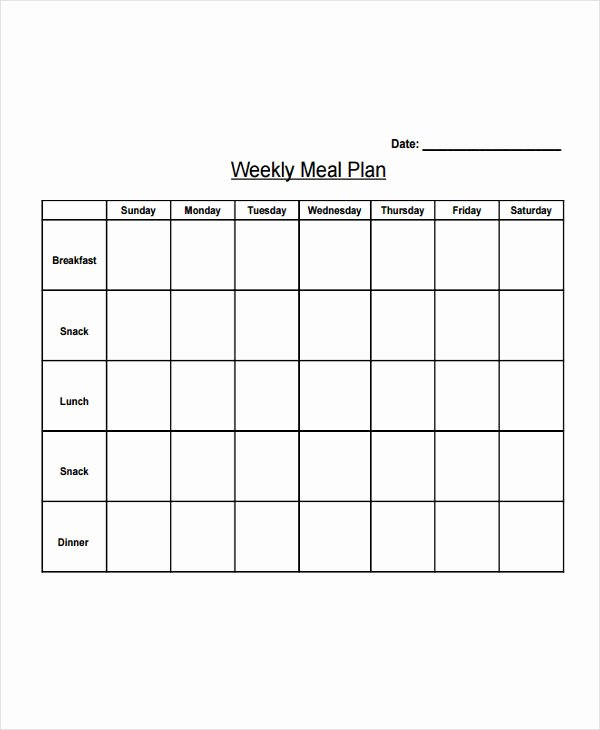 Weekly Meal Plan Template Best Of 10 Diet Plan Templates Free Sample Example format