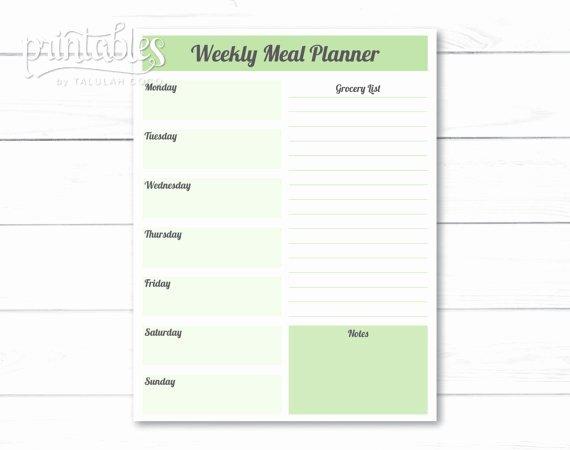 Weekly Meal Plan Template Elegant Editable Meal Planner Template Weekly Meal Planner with