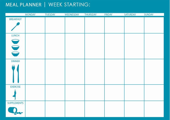 Weekly Meal Plan Template Excel Beautiful Monthly Weekly Meal Planner Template Microsoft Excel