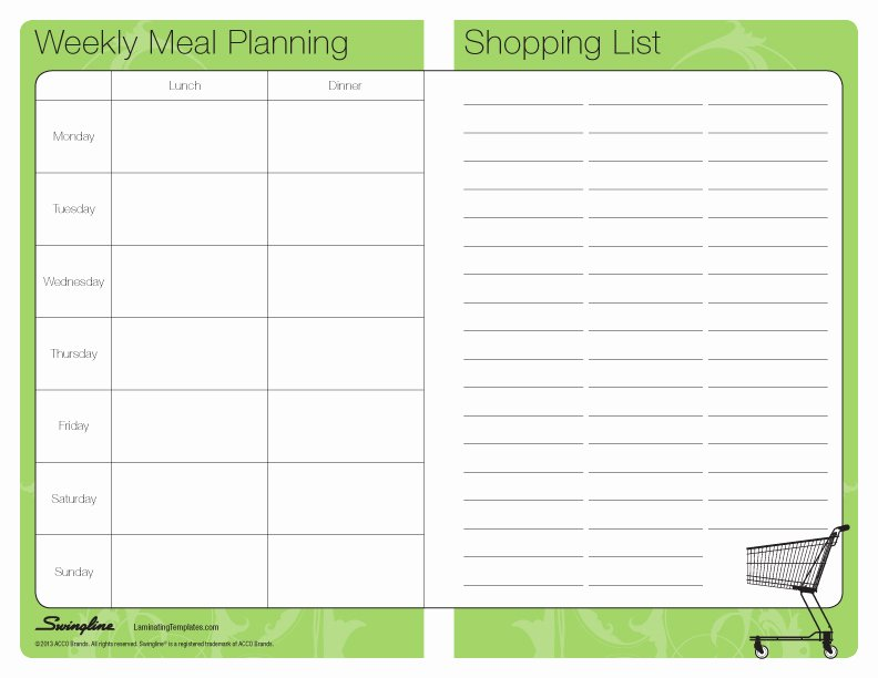 Weekly Meal Plan Template Excel Best Of Meal Planner Template
