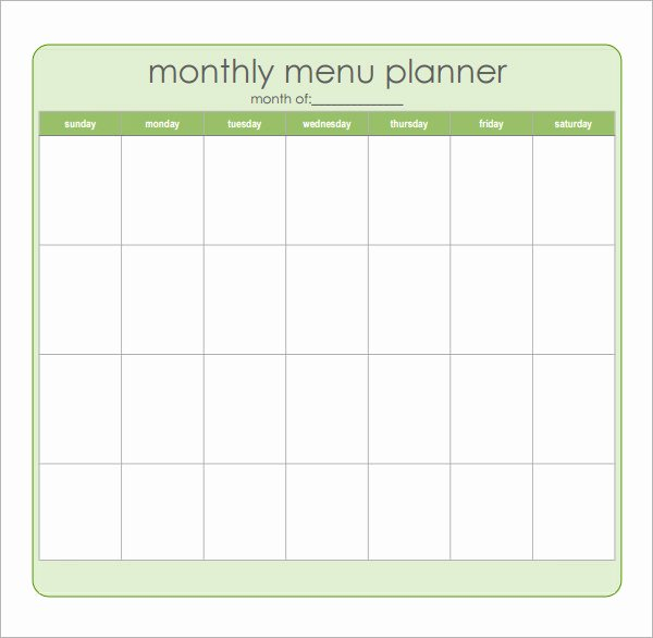 Weekly Meal Plan Template Excel Inspirational 18 Meal Planning Templates Pdf Excel Word